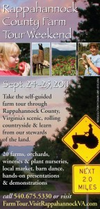 Rappahannock County Farm Tour — this weekend!!