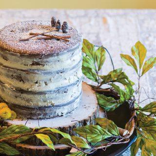 Chocolate Chestnut Naked Cake