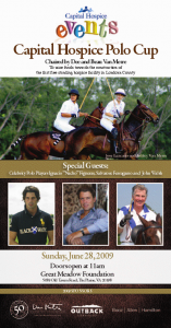 Capital Hospice Polo Cup, Great Meadow June 28th See you there!