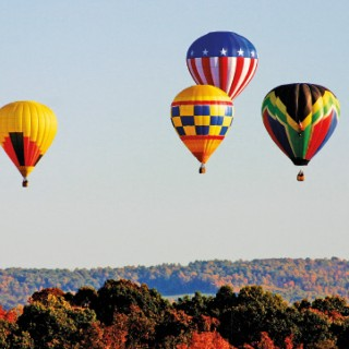 The Passion  of Ballooning  in the Blue Ridge