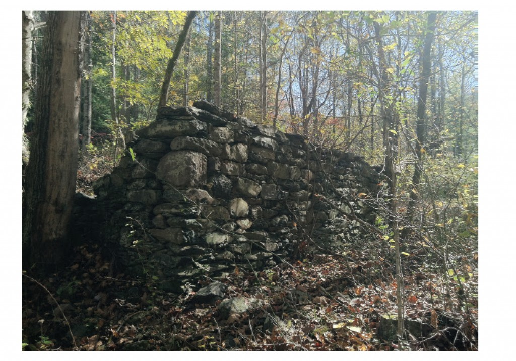Remnants of the Ballard Distillery, found along the Moormans River Road in the Sugar Hollow area of Albemarle County (Shenandoah National Park).