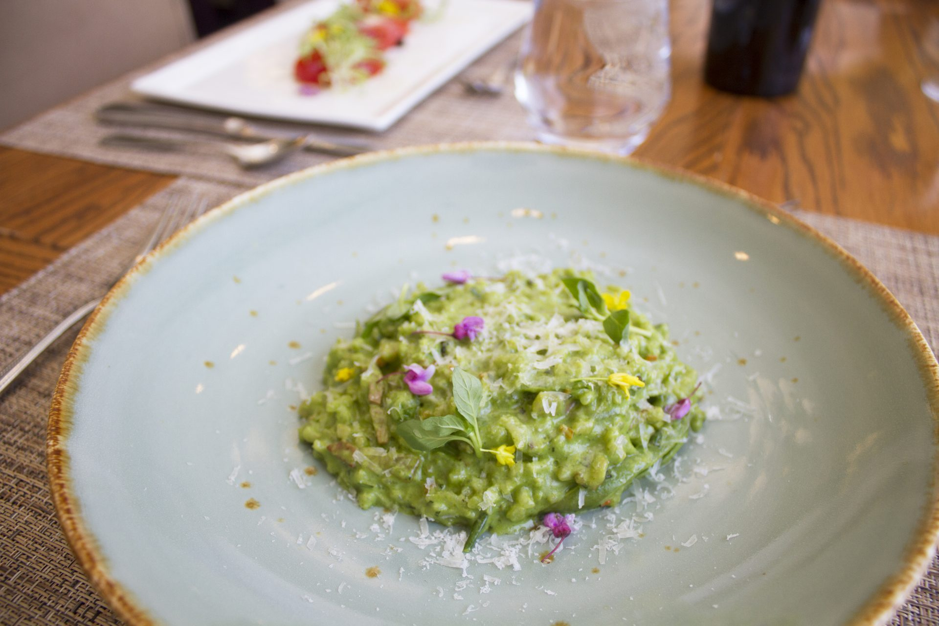 airlie garden bistro spring pea risotto