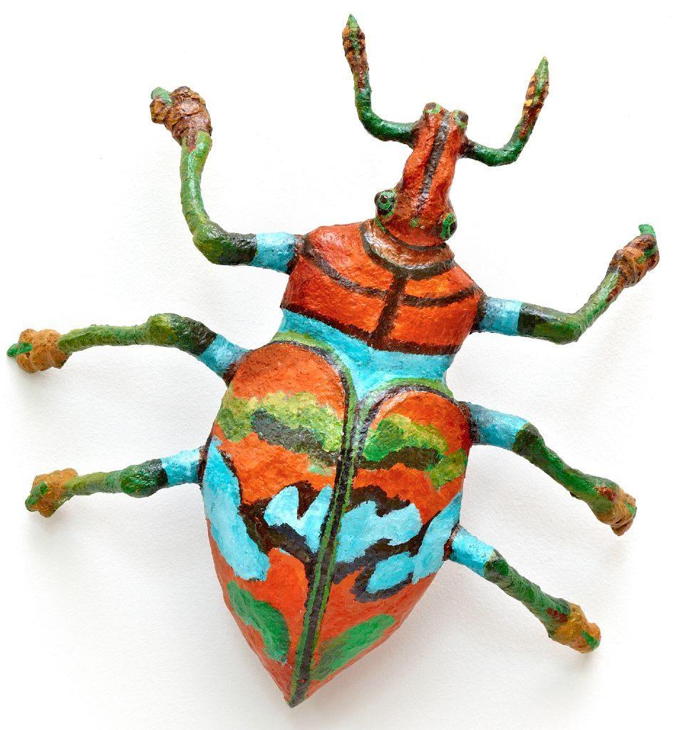 "Danzing.jpg Joan Danziger Orange Tail Beetle 14""x13""x4"" Mixed media 2011"