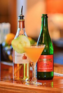 The Jefferson Appletini with apple-cardamom shrub, courtesy of Salamander Resort and Spa, Middleburg