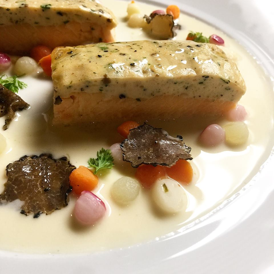 Fleurie - Arctic Char, Burgundy Truffles, Herb Mousse