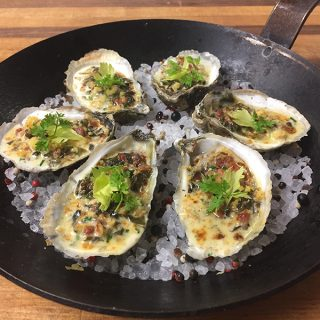 Recipe: Oysters Rockefeller from Fossett's at Keswick Hall